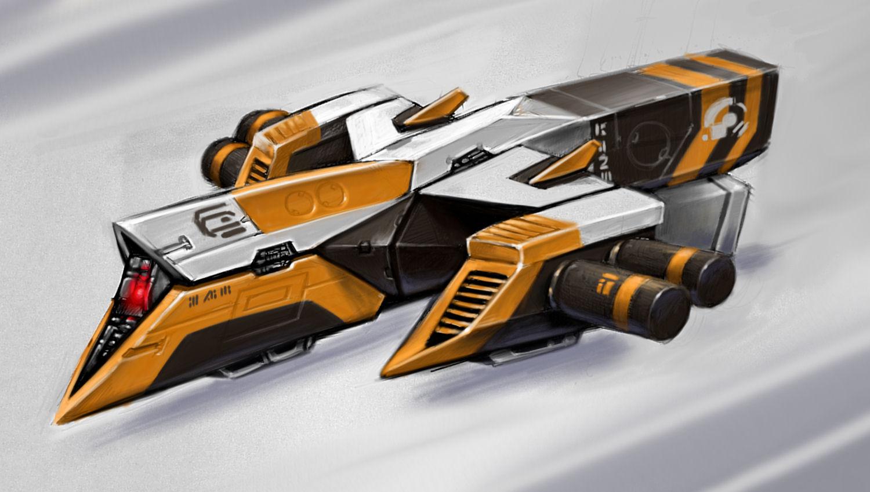 D9 Astro Racer Papercraft